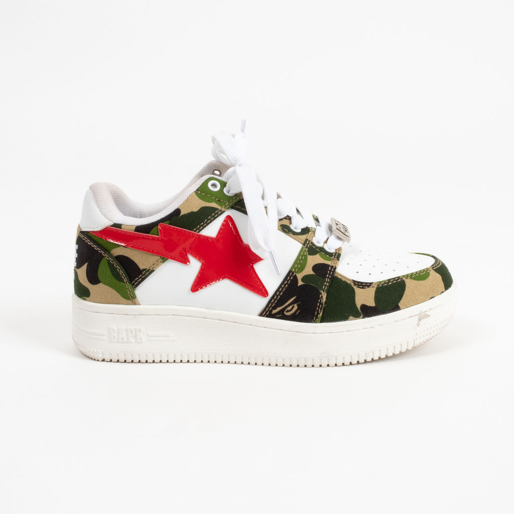 Bape Camo Bapesta Low with Patent Star