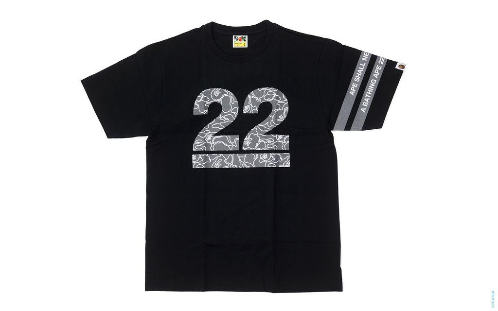 22nd Anniversary Border Sleeve Tee black