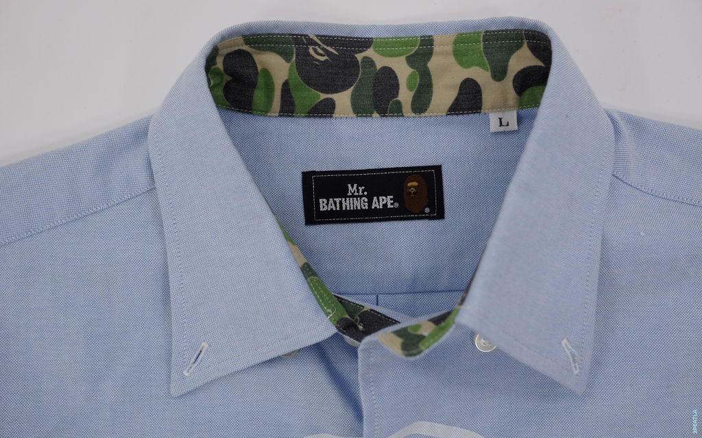 BAPE Mr. Bathing Ape ABC Camo Accent Button-Up Shirt