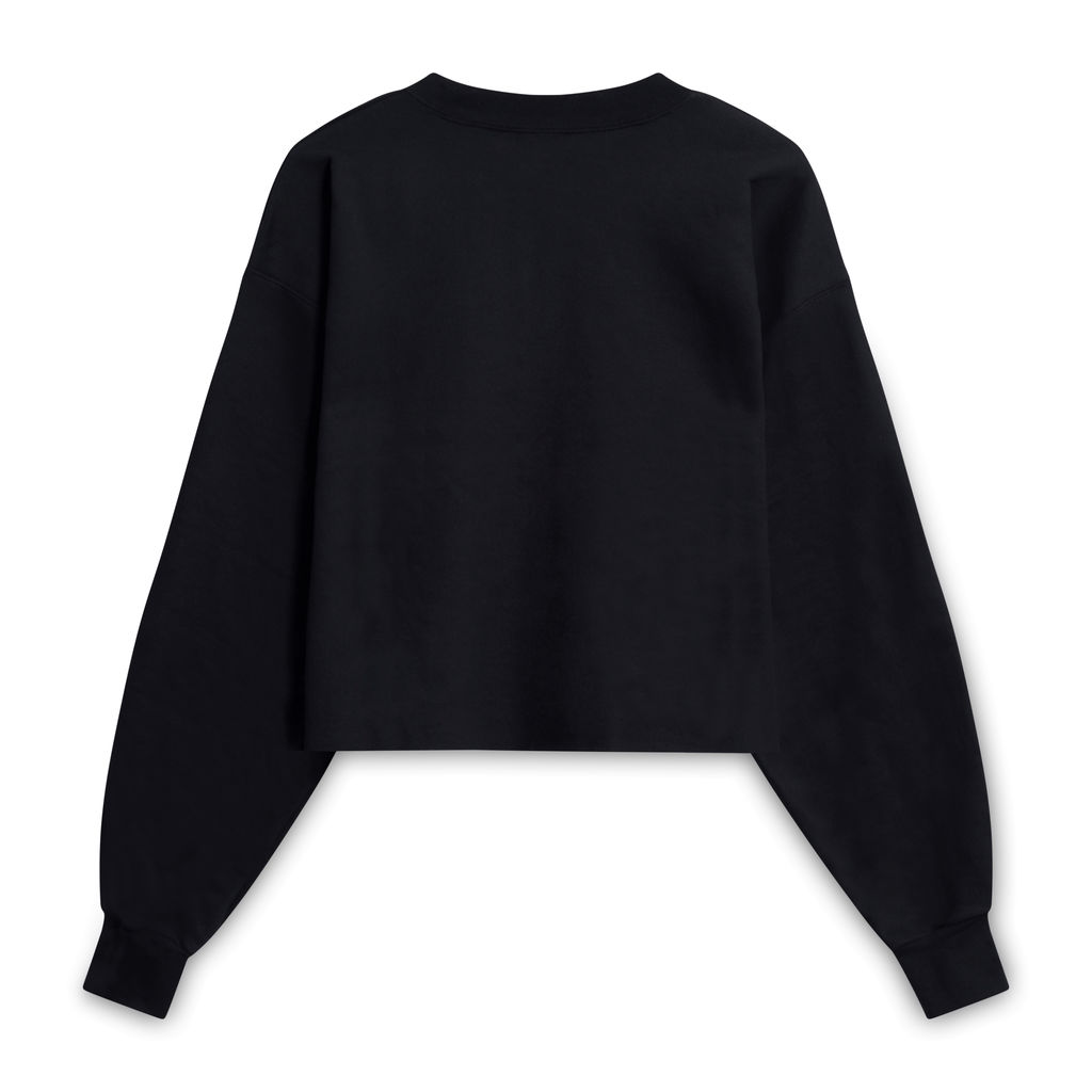 her Productions Cropped Crewneck - Black