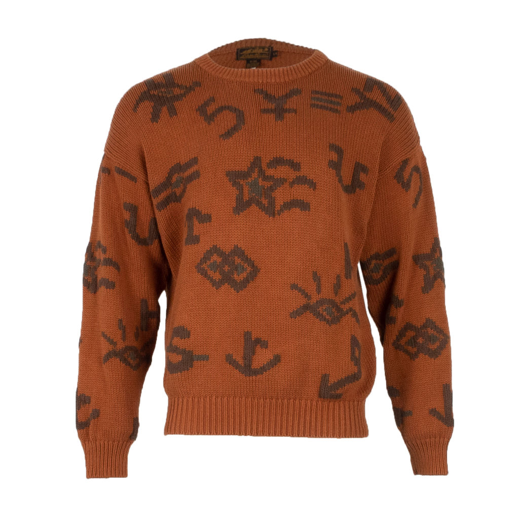Vintage Eddie Bauer Character Sweater in Orange