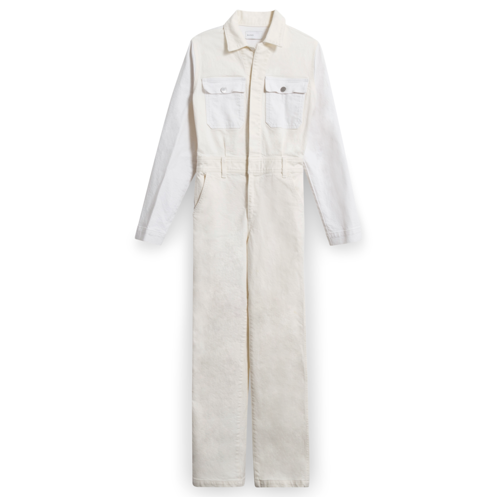 BLDWN Denim Boiler Jumpsuit in White