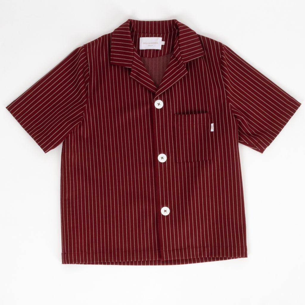 Drole De Monsieur Short Sleeve Pinstriped Shirt