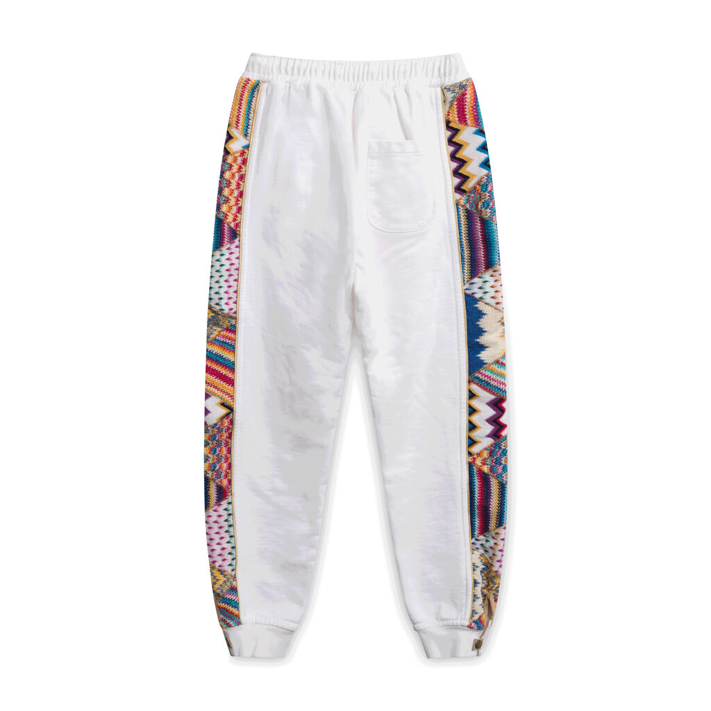 Missoni/Pigalle Embroidered White Sweatpants