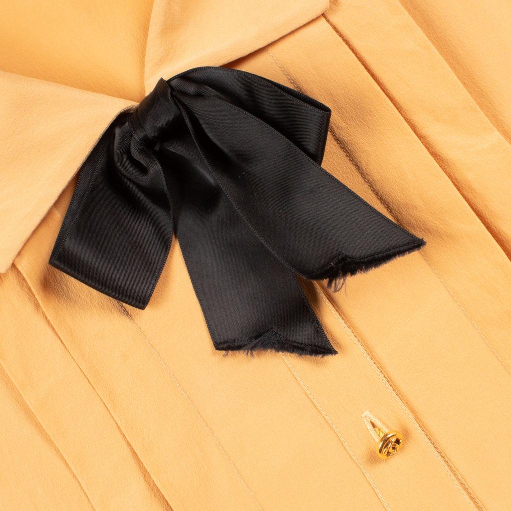 Chanel Boutique Silk Bow Blouse