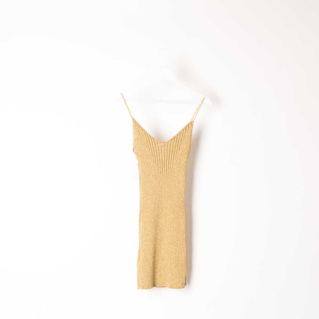 Sparkle Knit Metallic Tank Dress