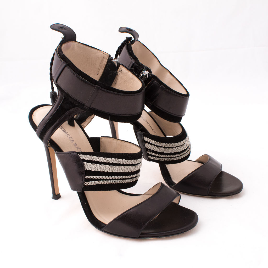 Rebecca Bjornsdotter Anne Pewter Braid Embellished Sandal