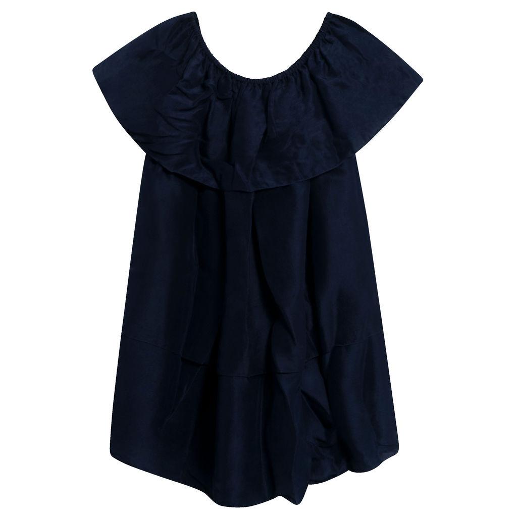 Azeeza Tara Tiered Silk Off-The-Shoulder Dress