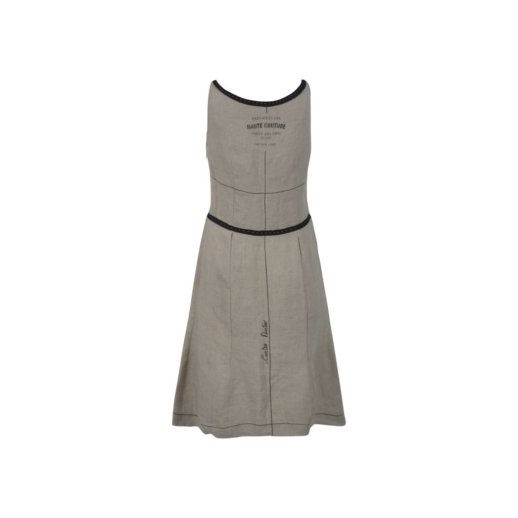 Vintage Moschino Linen Mini Dress