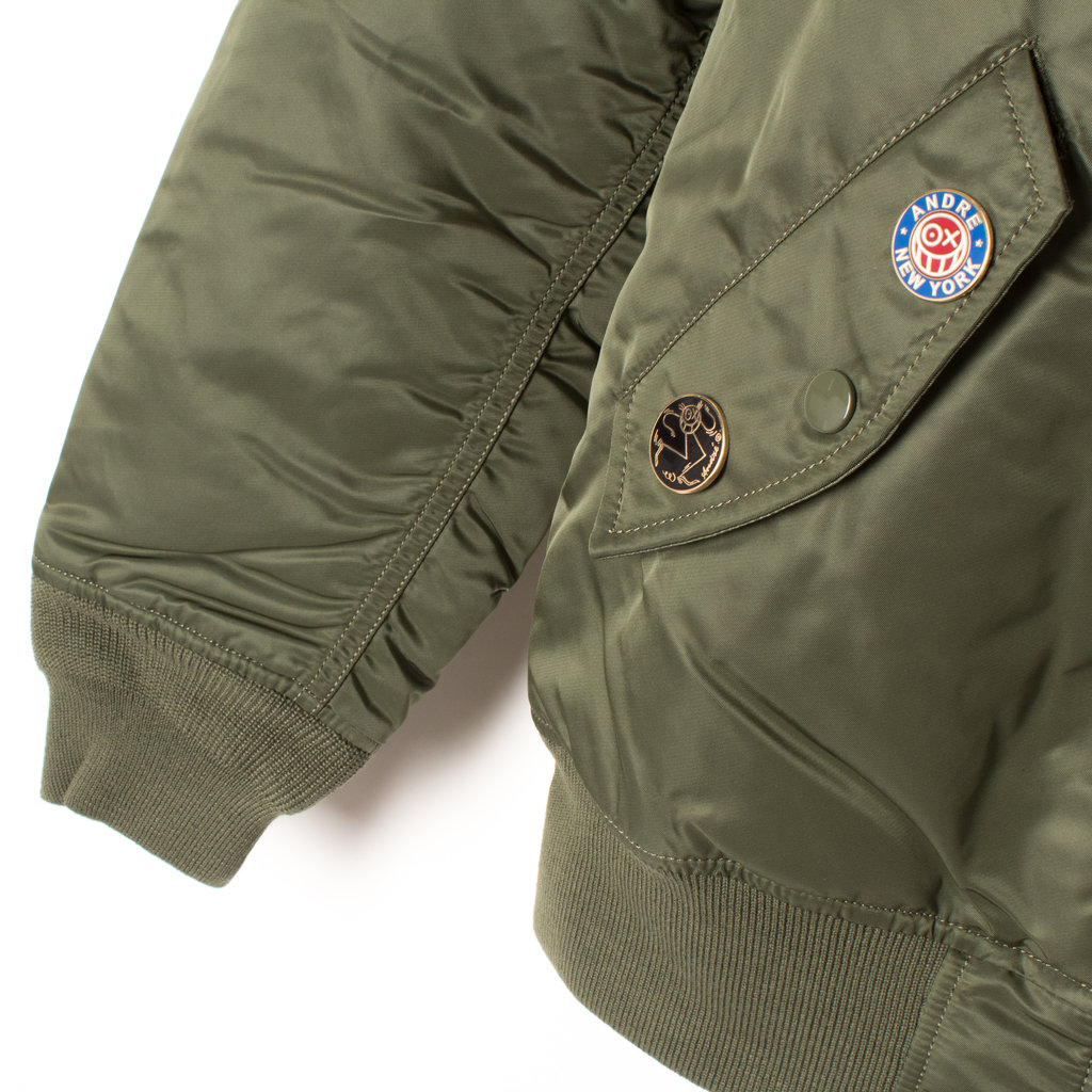 premium selection 31a92 8db0a Alpha Industries x André Insulated Bomber Jacket by André Saraiva