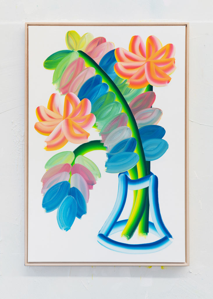 Palm Leaf With Flowers #2