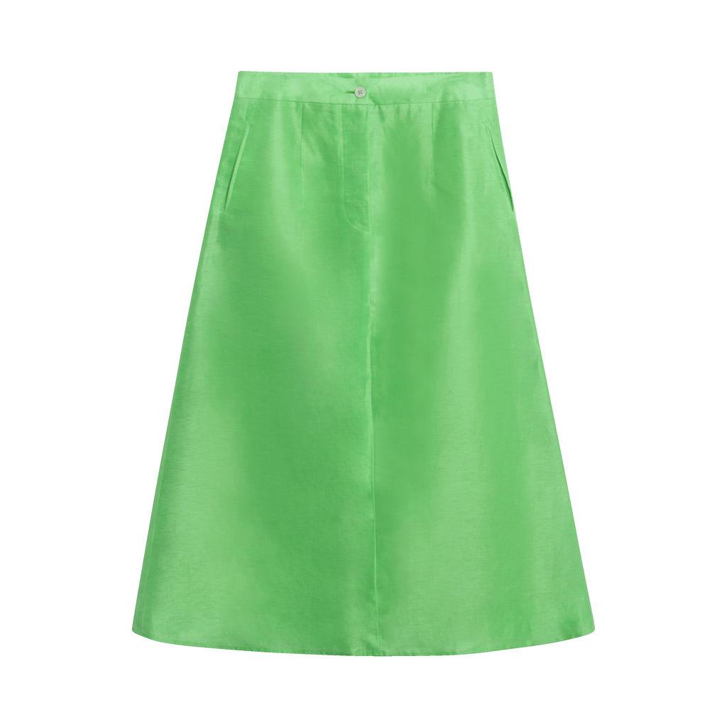 Chelsea Mak Tailored Skirt in Green