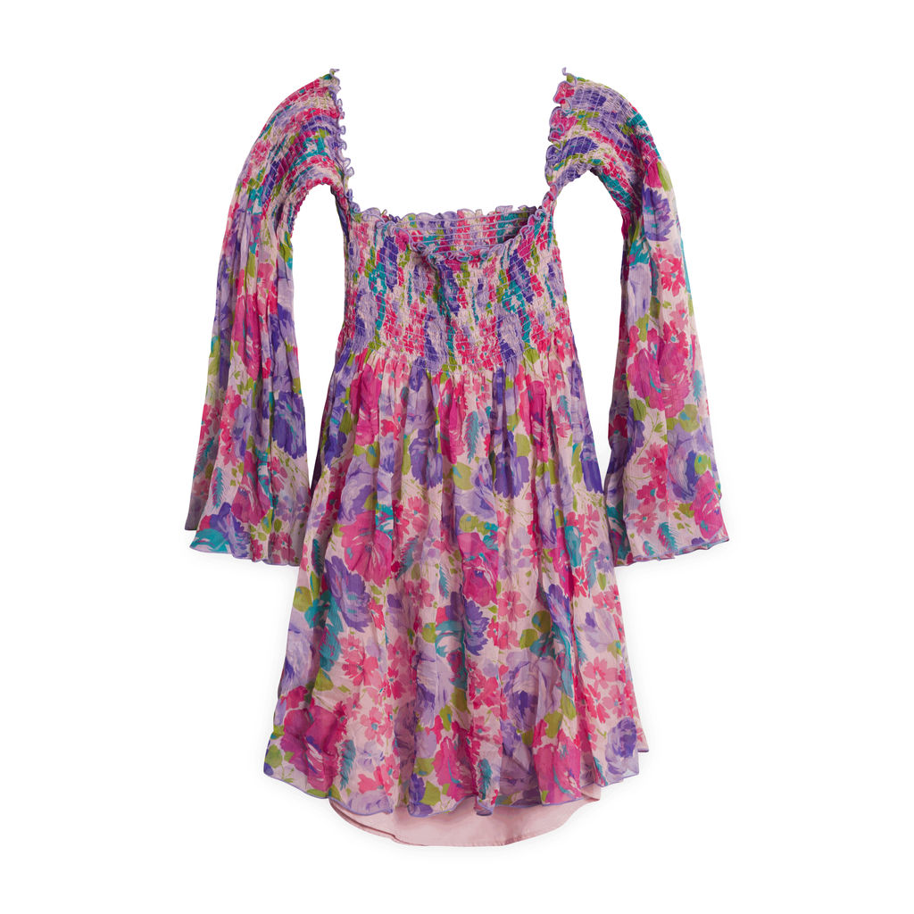 Betsey Johnson Floral Shoulderless Dress