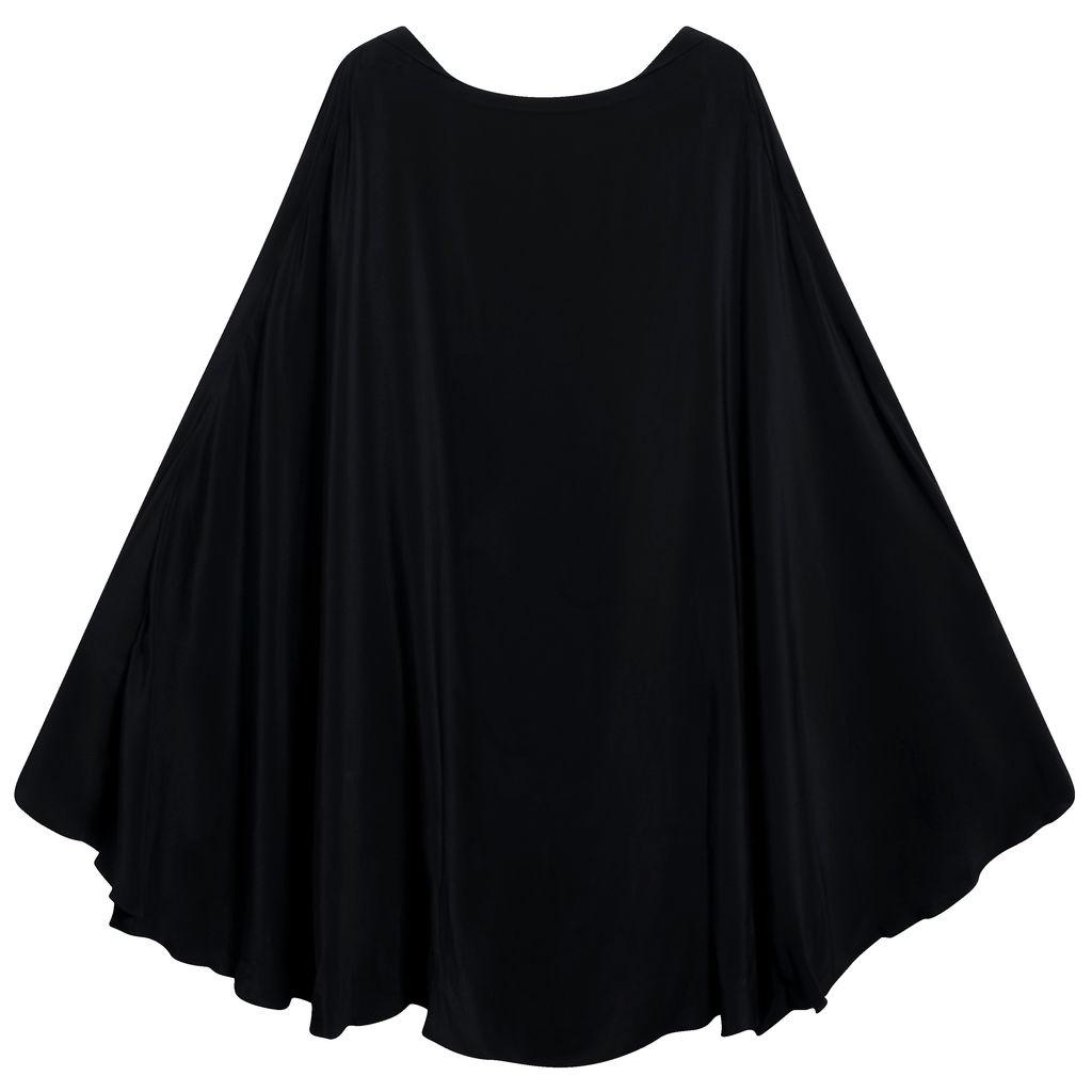 Azeeza Black Mini Dress With Attached Cape