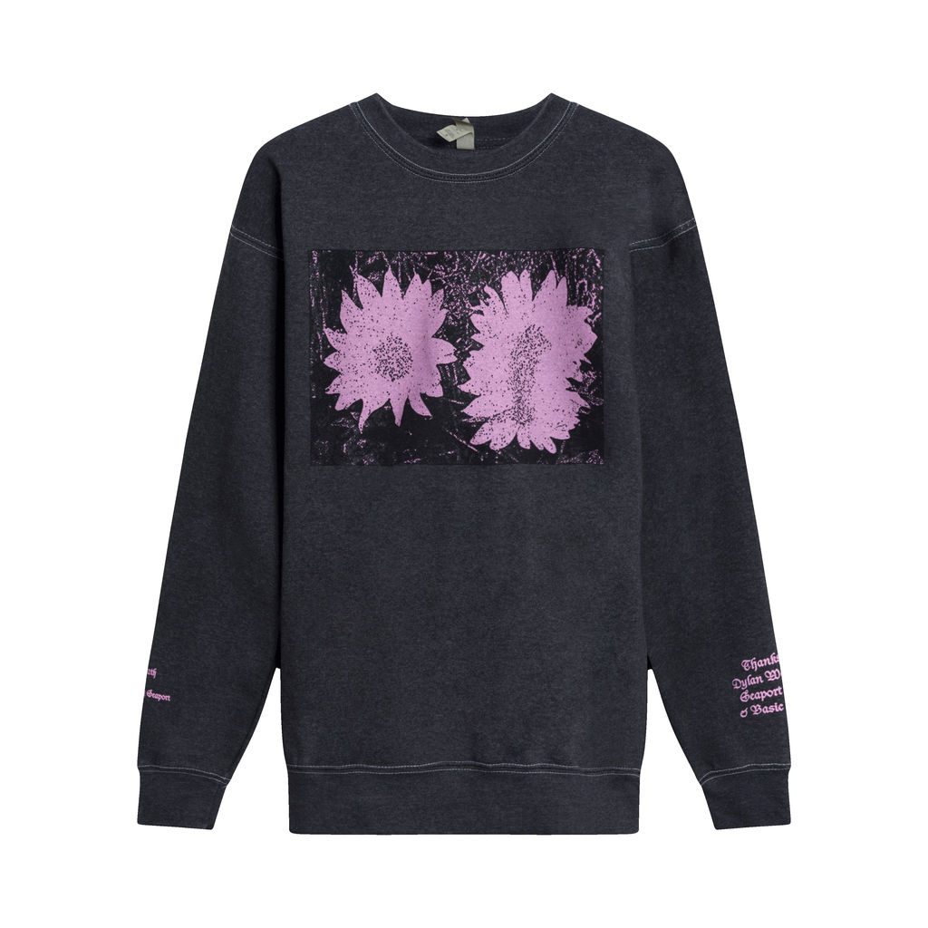 Daisies Crewneck By Chris Lloyd- Black
