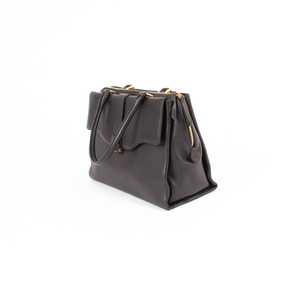 Derek Lam Black Leather Satchel