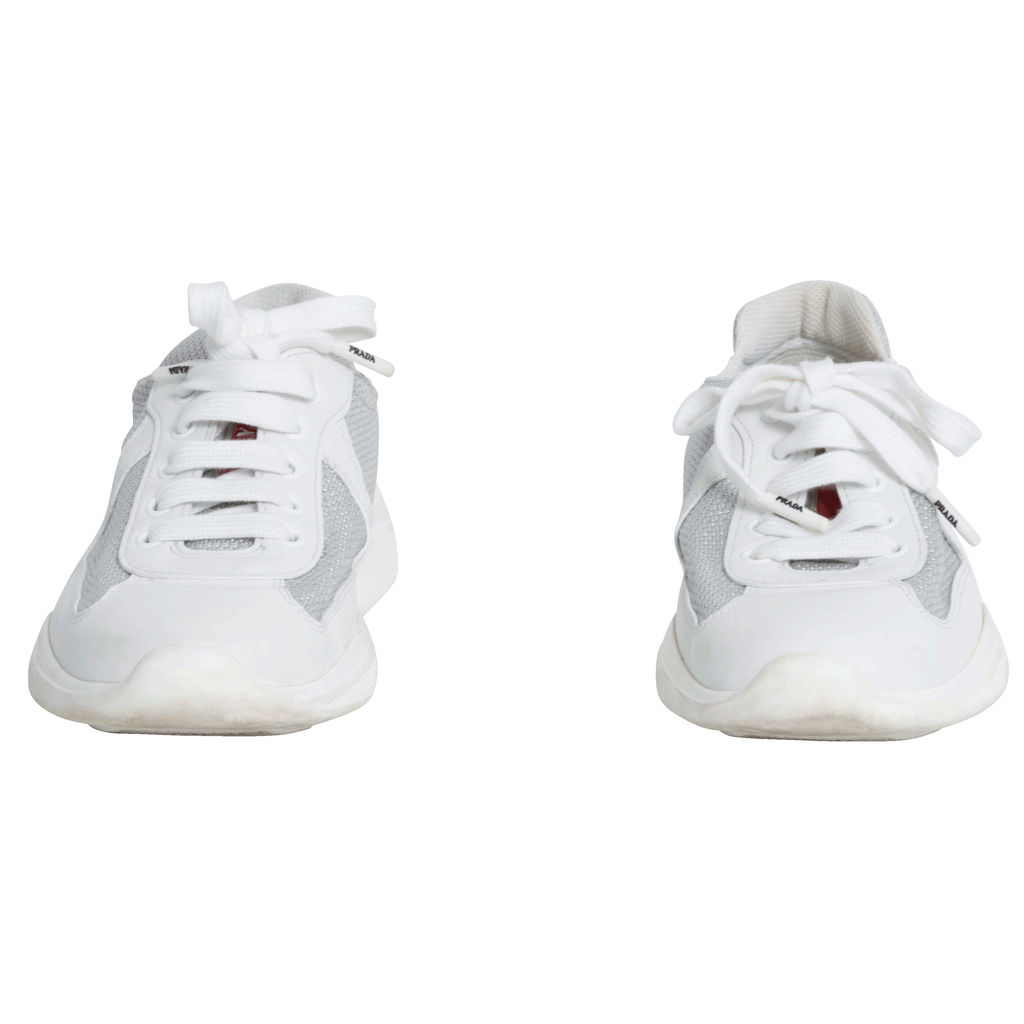 Prada New America's Cup Leather And Technical Fabric Sneakers