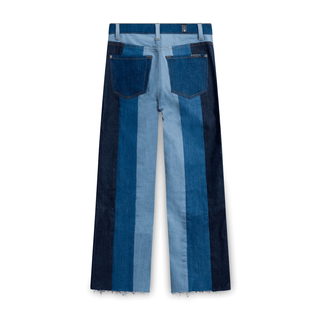 7 For All Mankind Blue Patterned Jeans