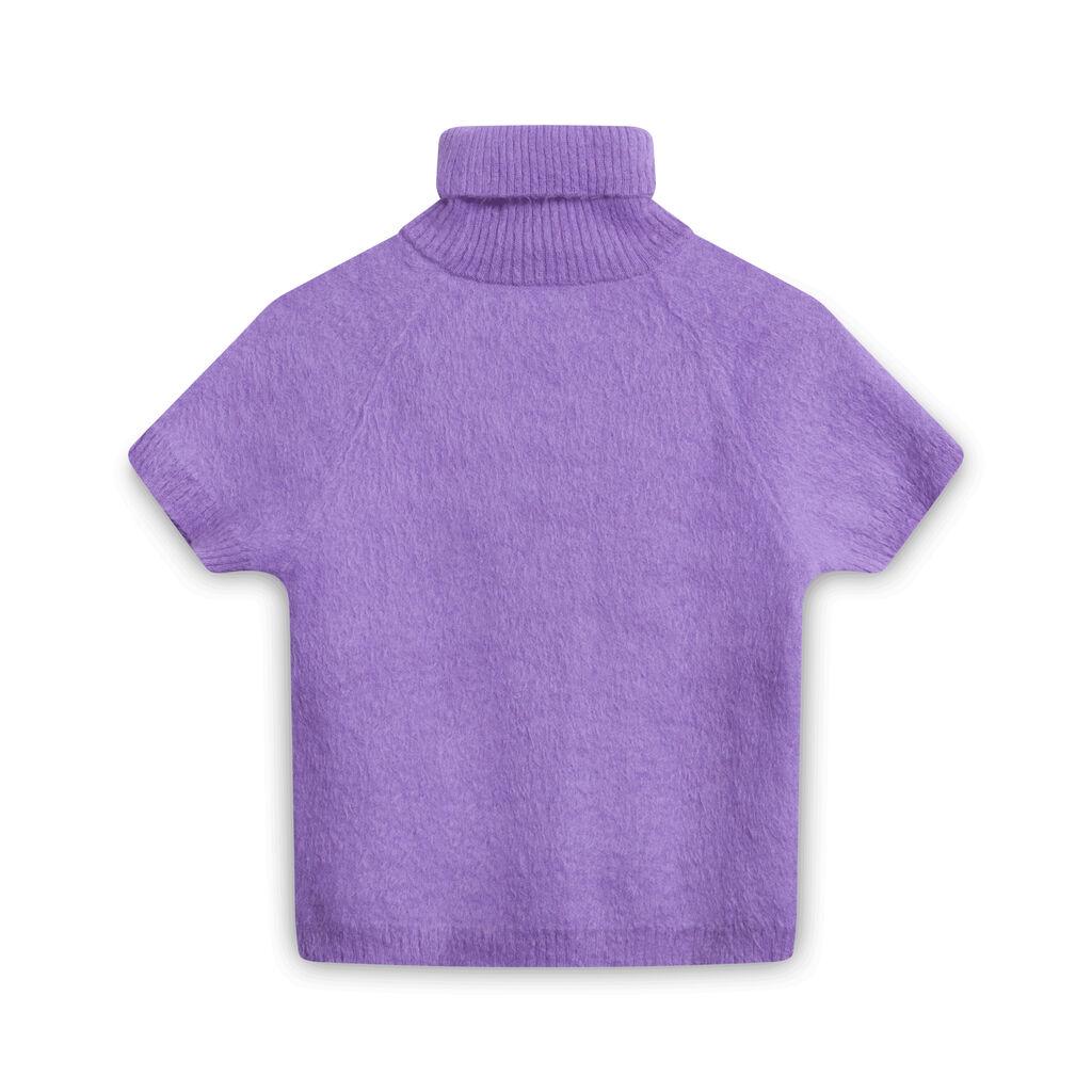 Paco Rabanne Short-Sleeve Turtleneck Sweater - Lavender