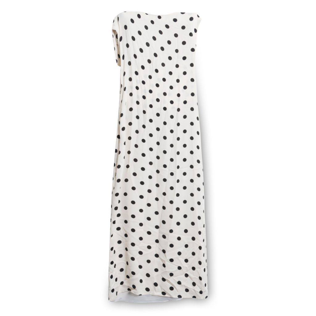 Oscar De La Renta Polka Dot Maxi Dress