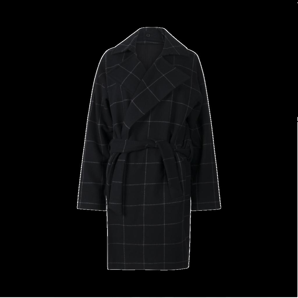 All Saints Wool Blend Coat
