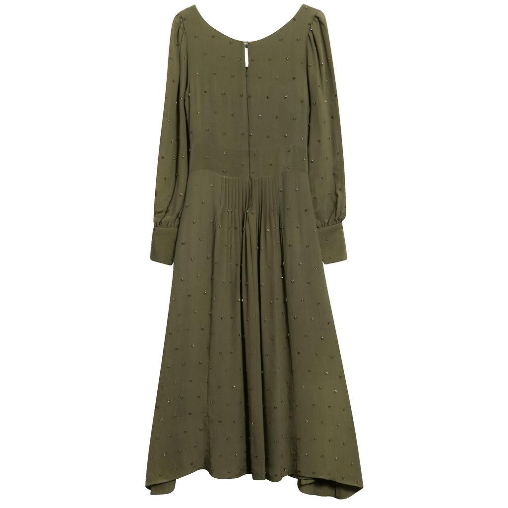 Azeeza All Over Studded Silk Gown