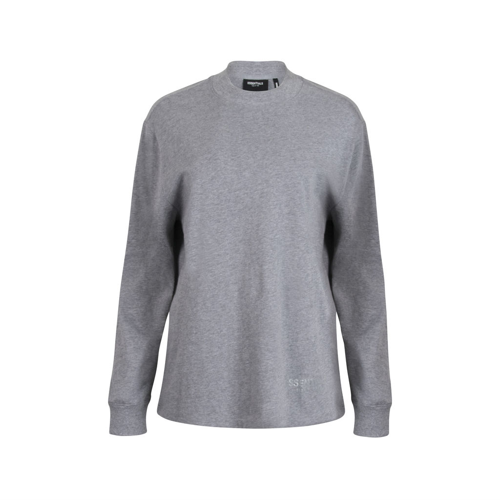 Fear of God Essentials Boxy Long Sleeve- Grey
