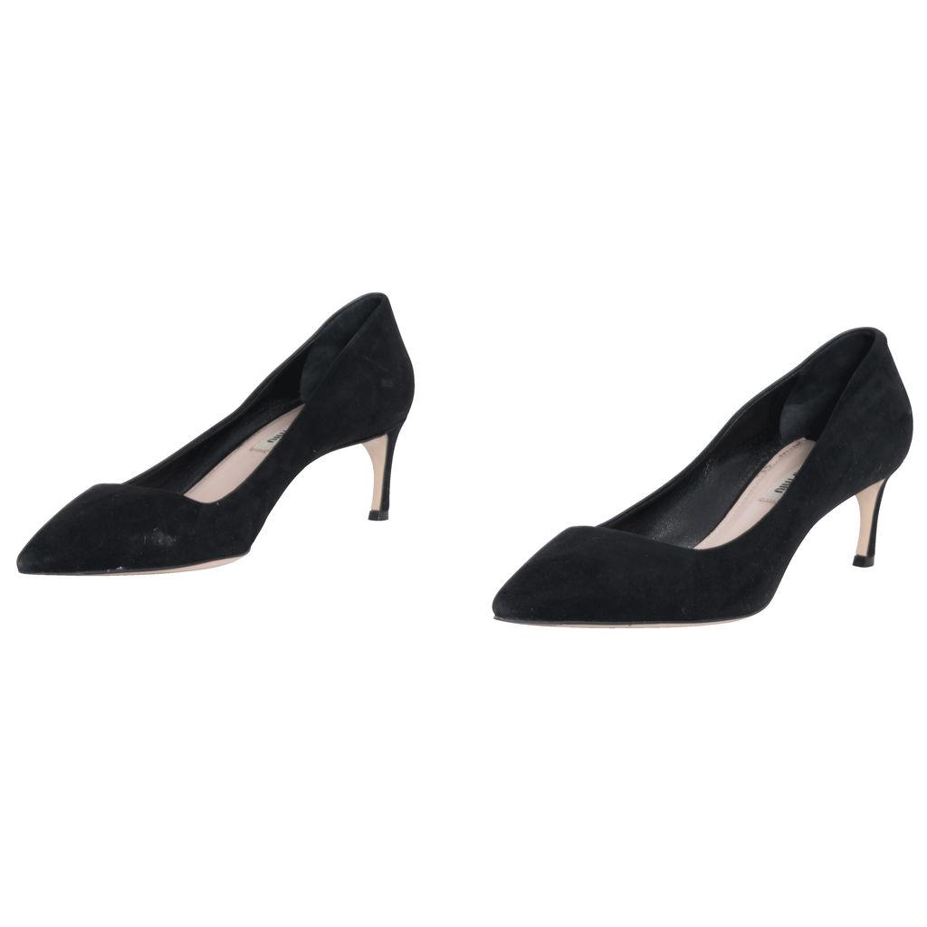 Miu Miu Suede Kitten Heels in Black