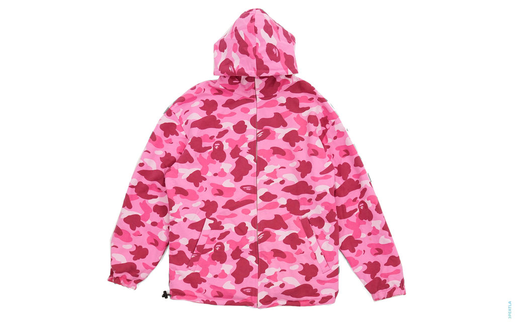BAPE Color Camo Reversible Jacket pink