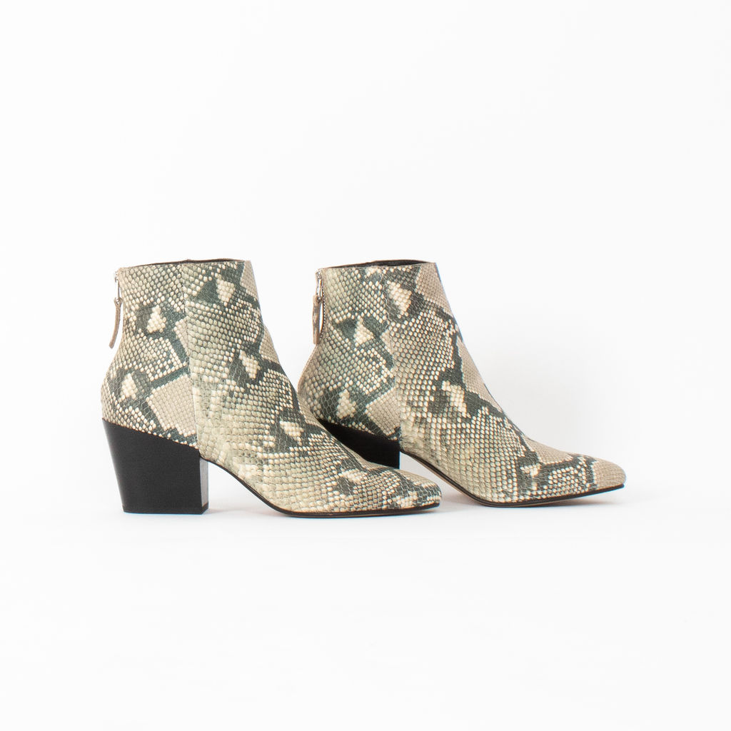 Dolce Vita Coltyn Snakeskin Embossed Leather Booties