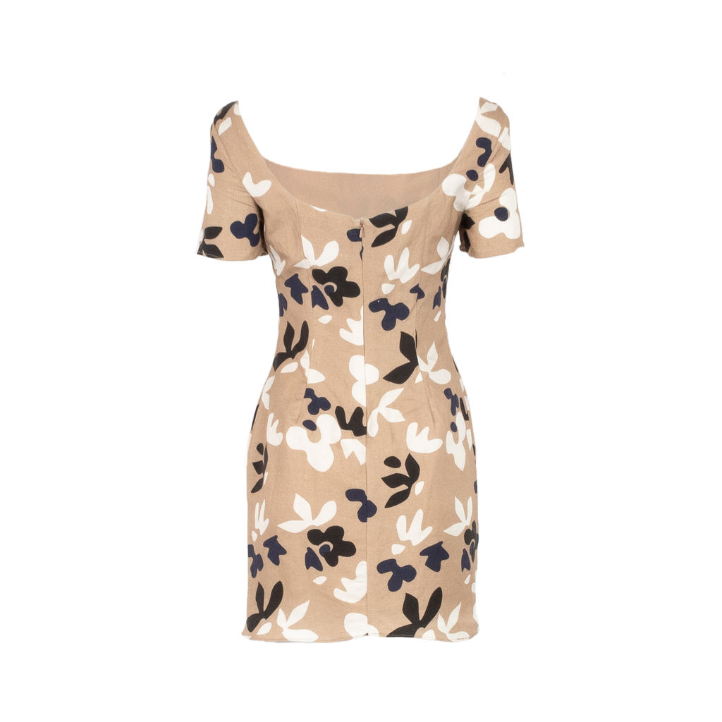 Fame and Partners Scoop Neck Mini Dress