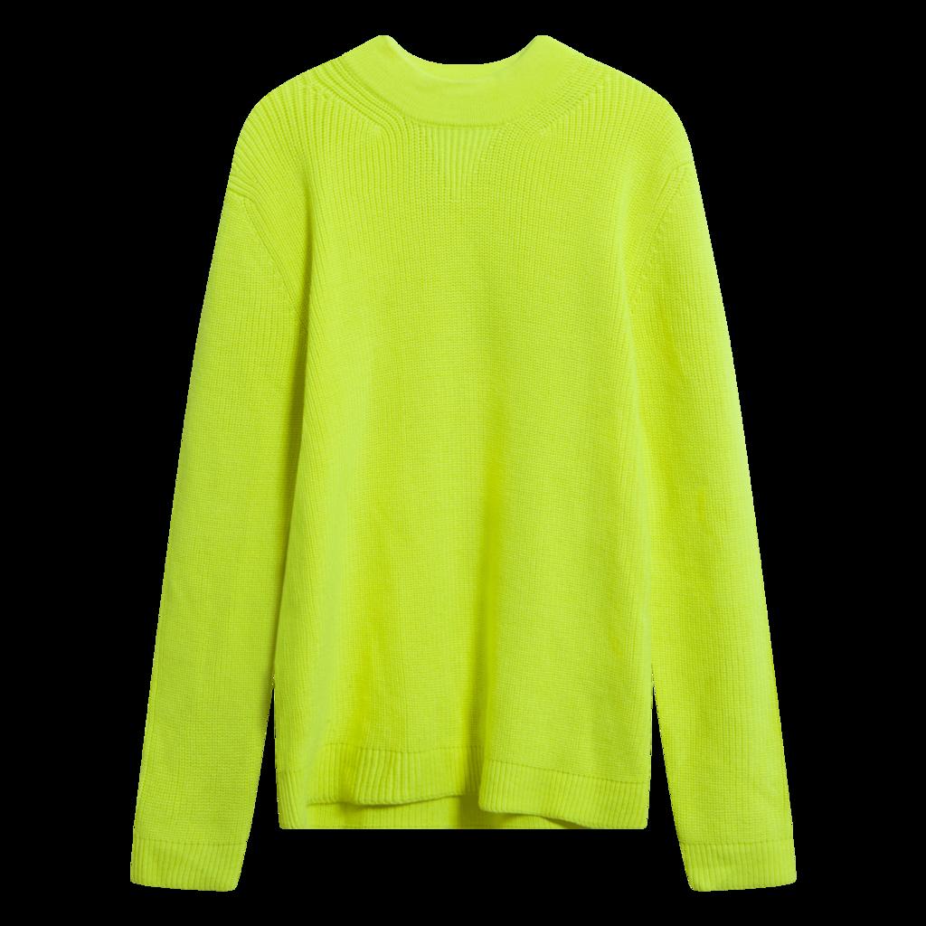 Moncler Neon Yellow Crew Neck Jumper