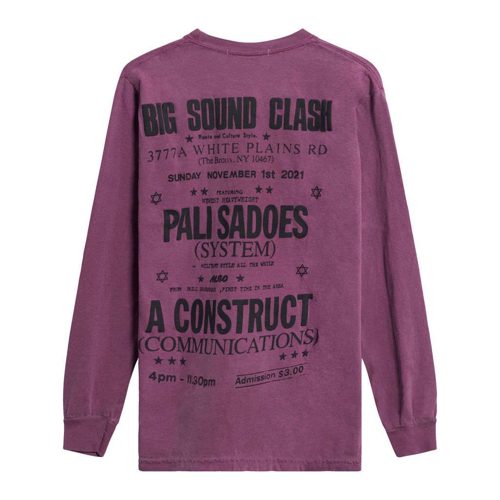 "Construct ""Big Sound Clash"" Longsleeve T-Shirt - Purple"