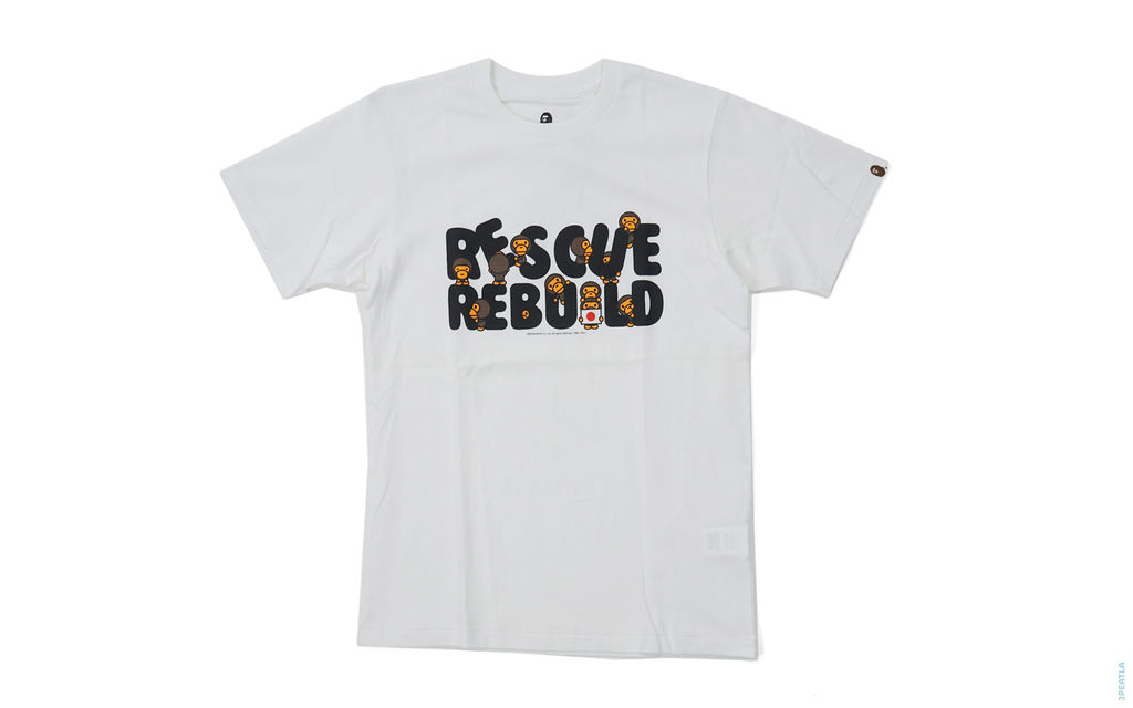 Rescue Rebuild Japan Milo Charity Tee white