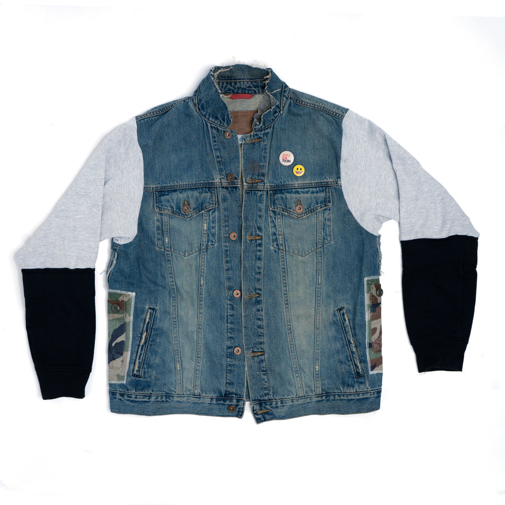 """AllanMarco: """"Our Parade"""" Military Denim Jacket"""