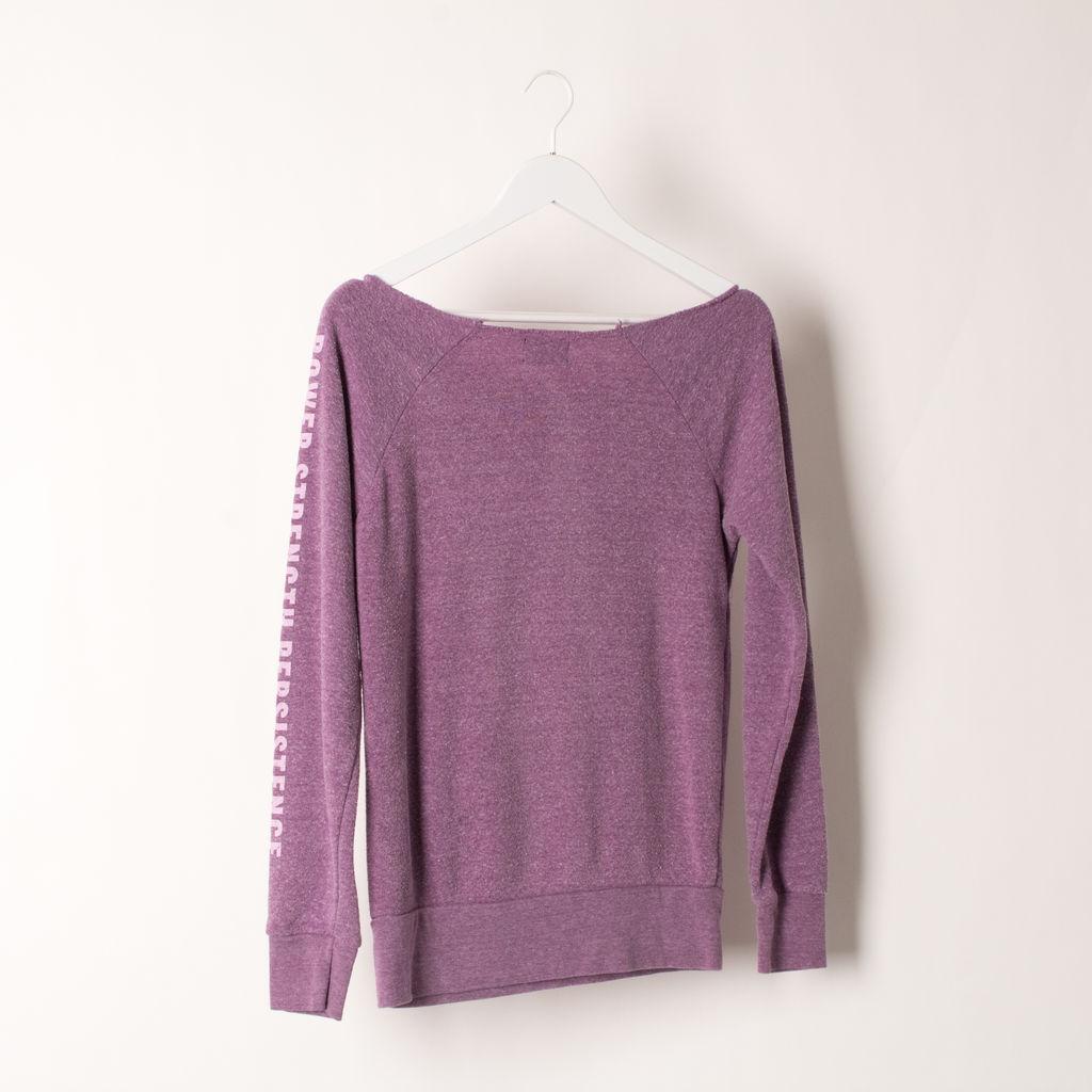 Iammai Off Shoulder Vintage Sweatshirt