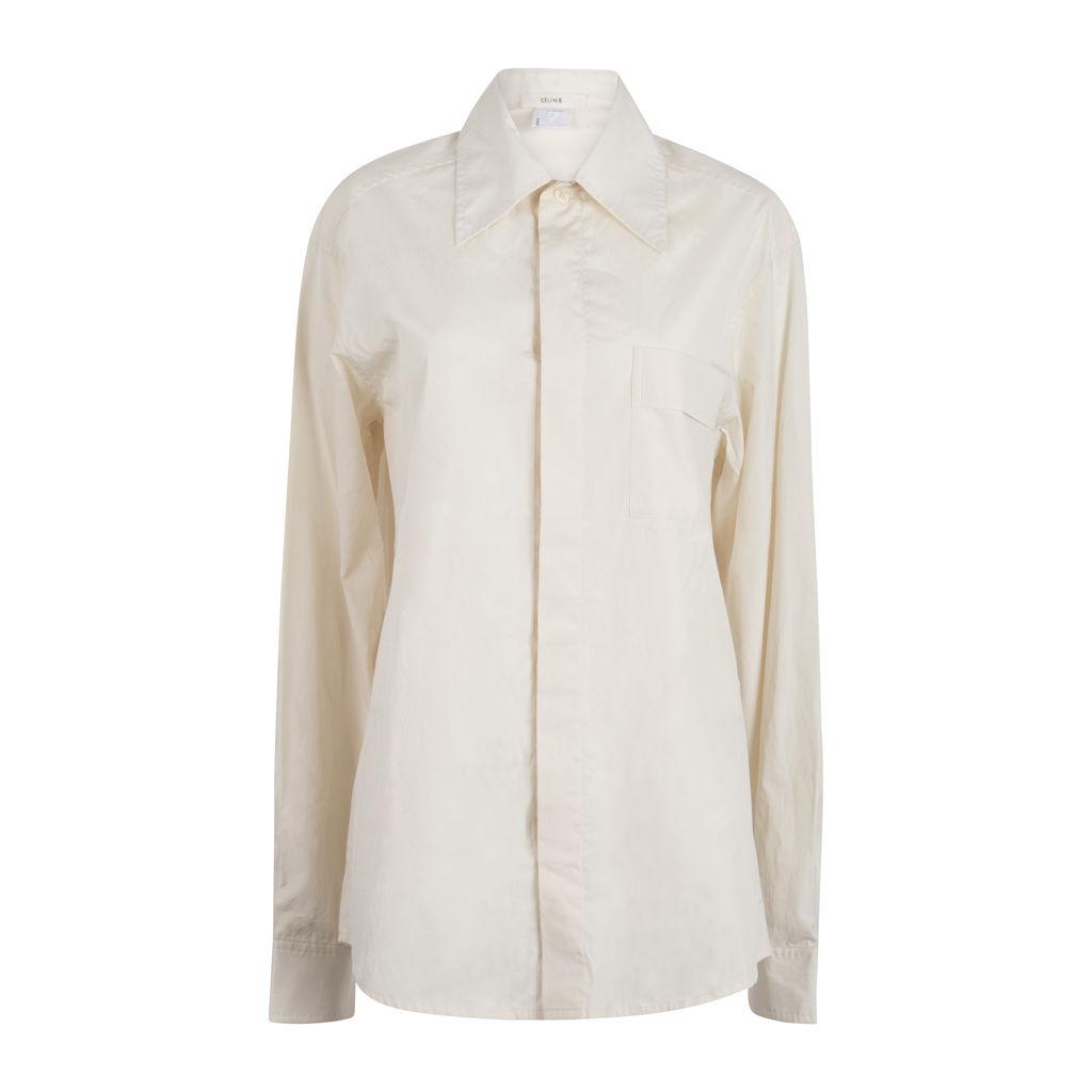 Céline Cream Button Up Shirt