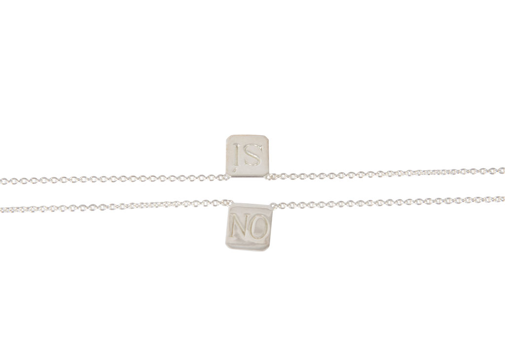 Billy! Si • No Edition Silver Tag Necklace