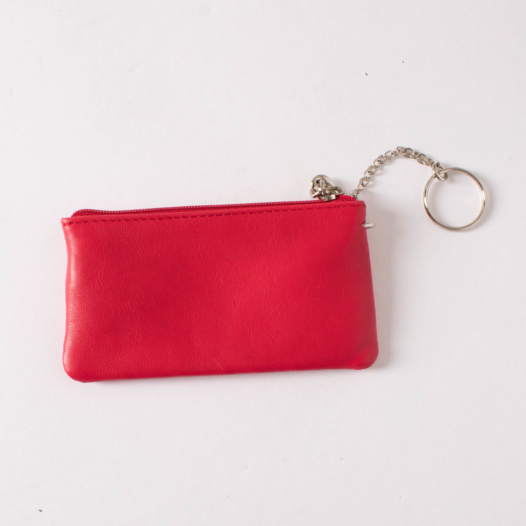 Serapian Red Coin Pouch Keychain