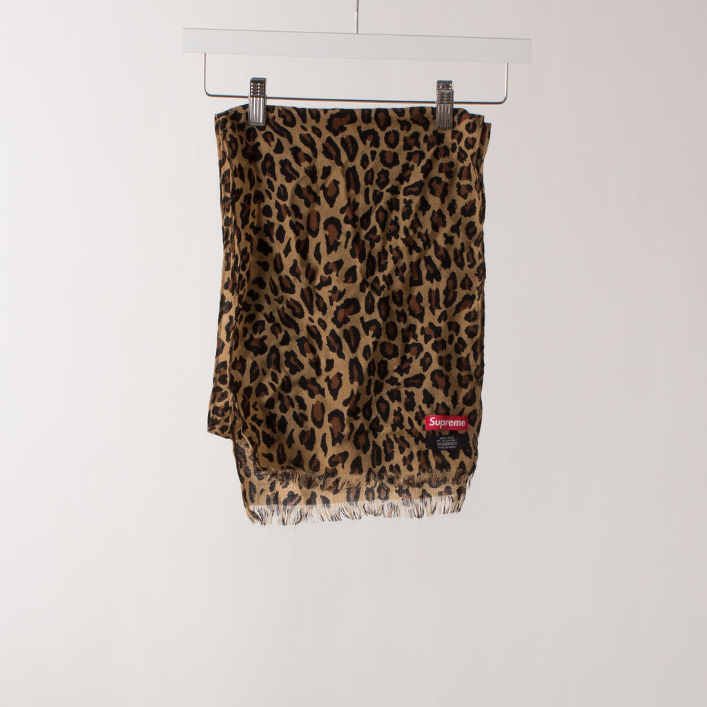 Supreme Cheetah Scarf