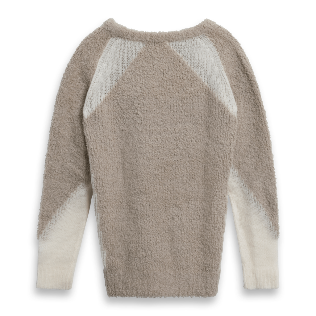 IRO Shani Wool Blend Crewneck Colorblock Sweater