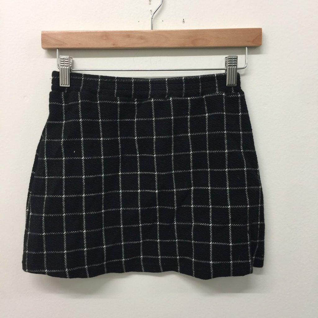 THE OPEN Plaid Long Sleeve Top + Skirt curated by Sami Miro
