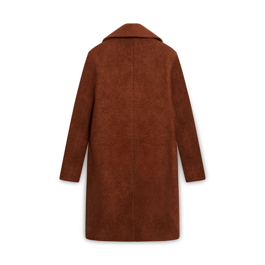 Frank and Oak Rust Wool Coat