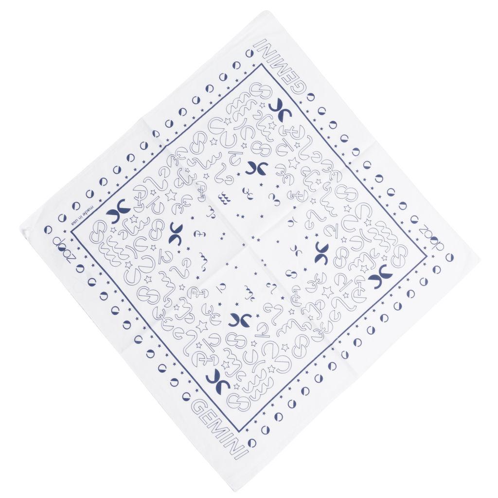 DOOZ Gemini Bandana + Keychain Set in White