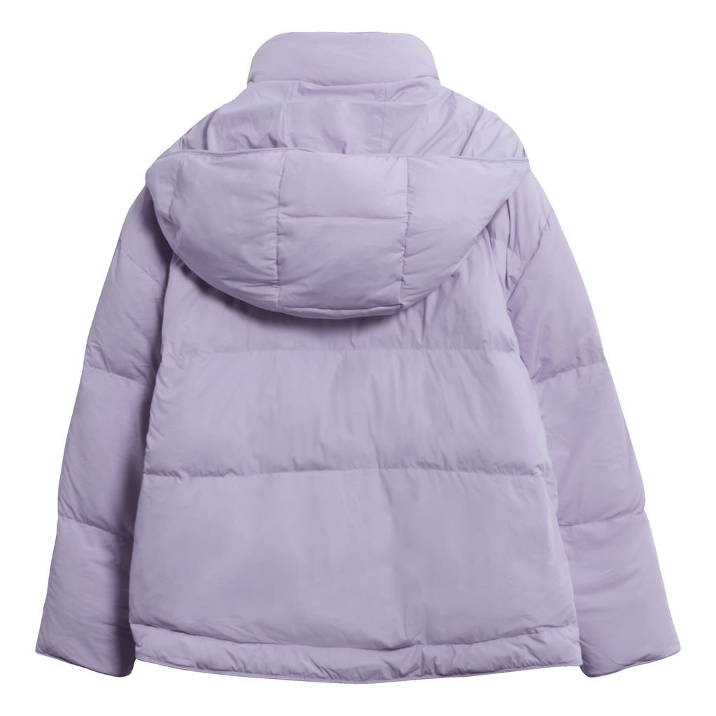 Andrew Marc Hooded Down Puffer Jacket in Lavendar