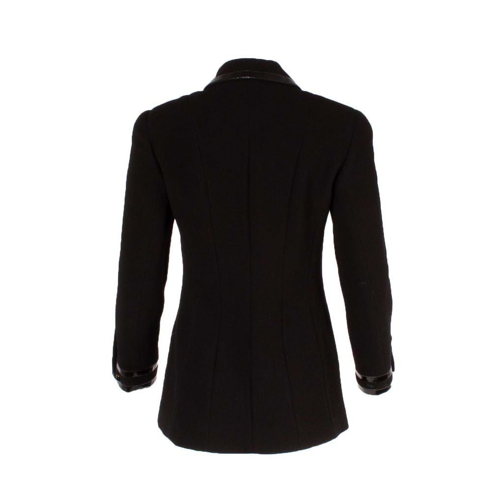 Chanel Boutique Patent Trim Jacket