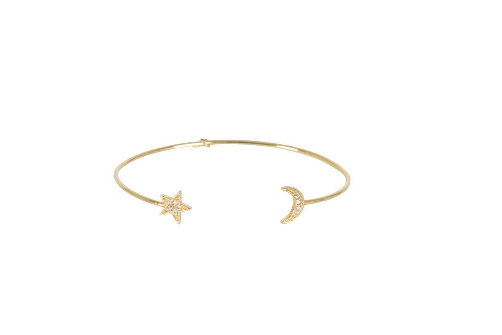 Tai- Moon and Star Open Bracelet