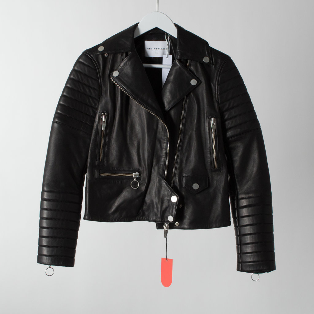 The Arrivals Cropped Leather Moto Jacket curated by Sami Miro