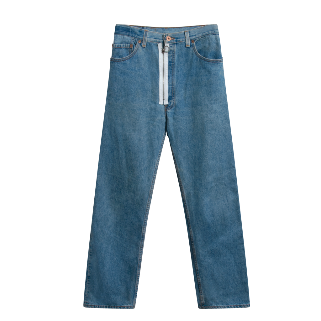 Levi's X Off-White Zip Detail Jeans - Light Blue