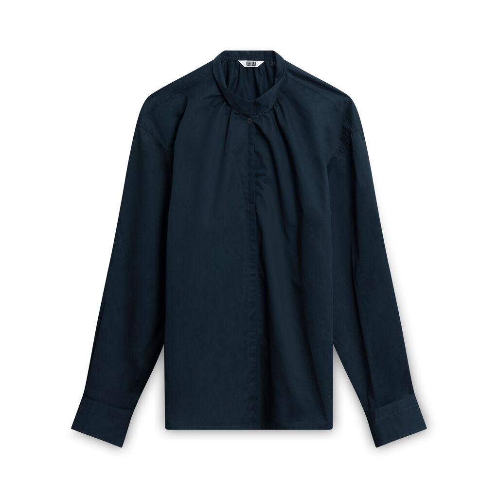 Uniqlo Single Button Longsleeve Shirt - Navy